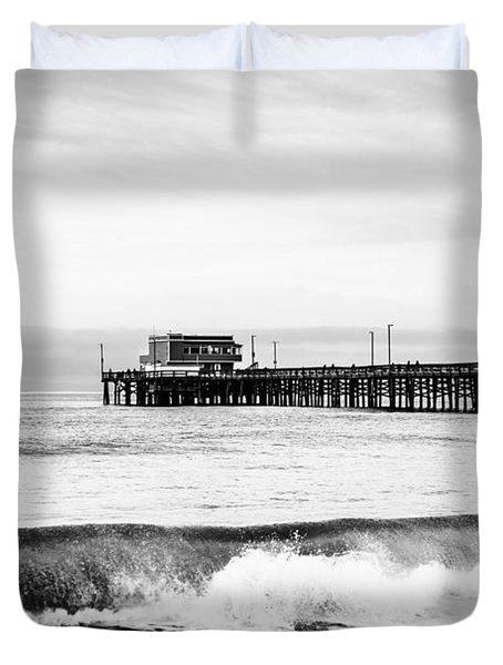 Newport Beach Pier Duvet Cover by Paul Velgos
