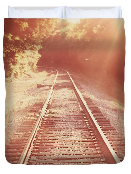 Next Stop Home Duvet Cover by Amy Tyler