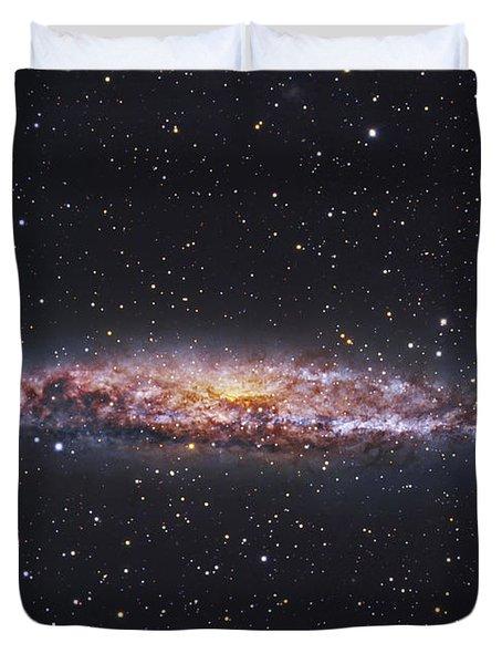 Ngc 4945, Starburst Galaxy In Centaurus Duvet Cover by Robert Gendler