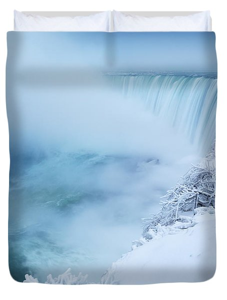 Niagara Falls In Winter Duvet Cover by Oleksiy Maksymenko