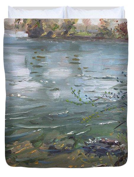 Niagara River Spring 2013 Duvet Cover by Ylli Haruni