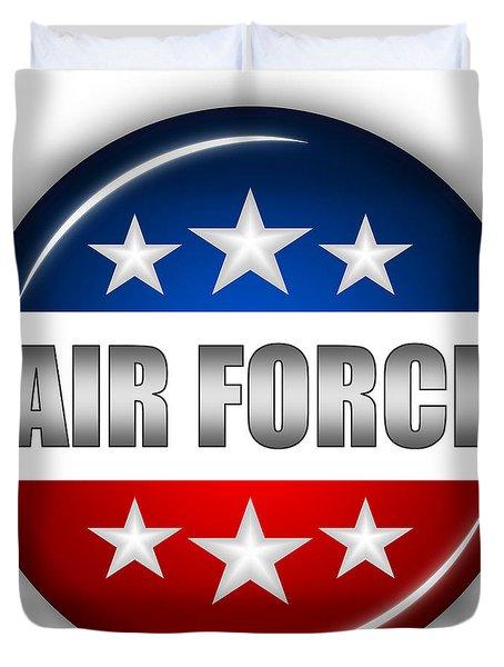 Nice Air Force Shield Duvet Cover by Pamela Johnson