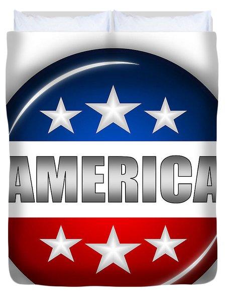 Nice America Shield Duvet Cover by Pamela Johnson