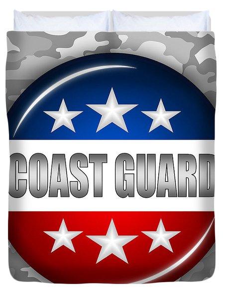 Nice Coast Guard Shield 2 Duvet Cover by Pamela Johnson