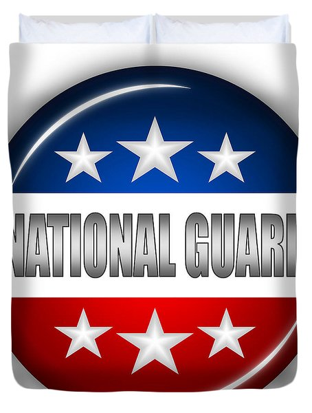 Nice National Guard Shield Duvet Cover by Pamela Johnson