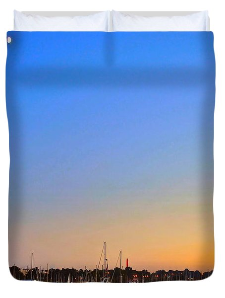 Night Fishing Duvet Cover by Frozen in Time Fine Art Photography