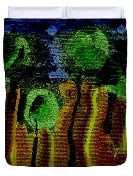 Night Forest Tapestry Duvet Cover by Lenore Senior