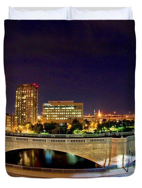 Night Moves 2-Boston Duvet Cover by Joann Vitali