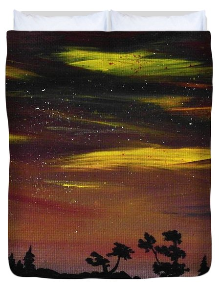 Night Scene Duvet Cover by Anastasiya Malakhova