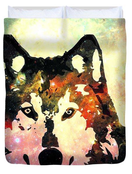 Night Wolf Duvet Cover by Anastasiya Malakhova