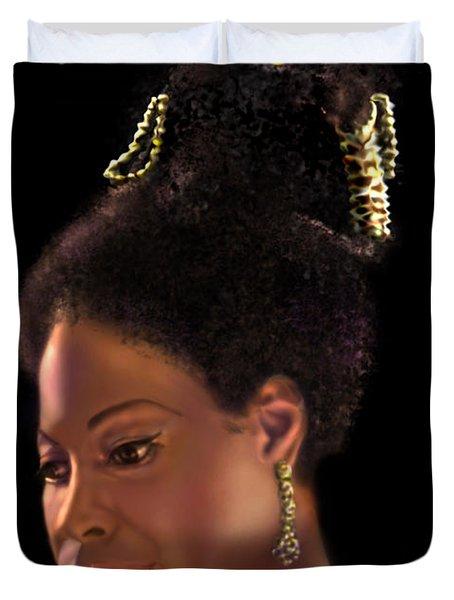 Nina Simone Duvet Cover by Reggie Duffie
