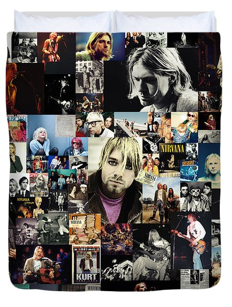 Nirvana Collage Duvet Cover by Taylan Apukovska
