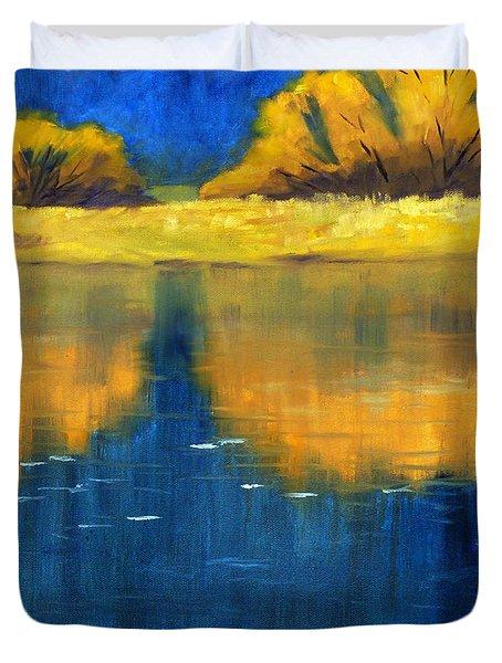 Nisqually Reflection Duvet Cover by Nancy Merkle