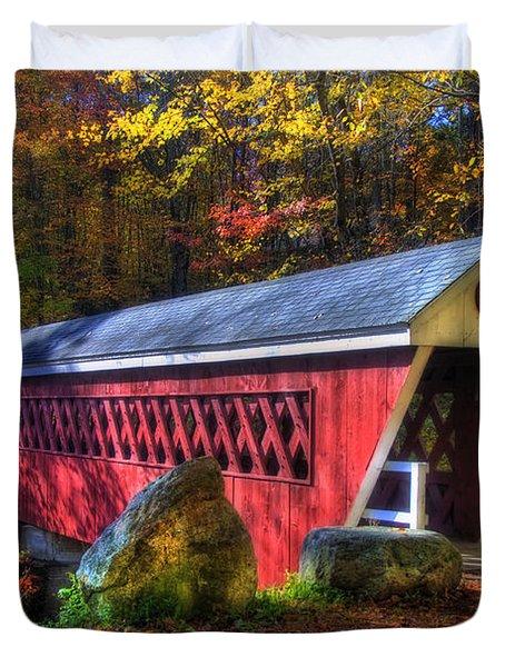 Nissitissit Bridge Brookline NH Duvet Cover by Joann Vitali