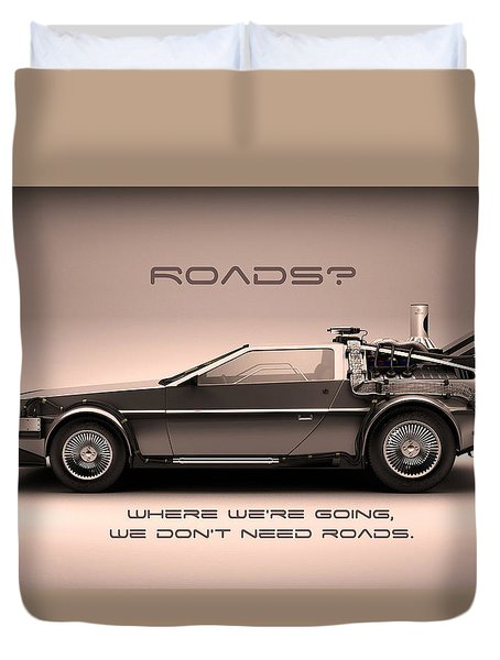 No Roads Duvet Cover by Patrick Charbonneau