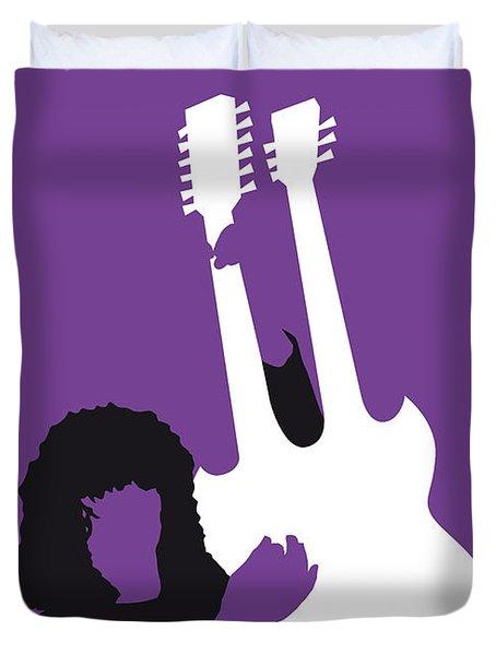 No011 My Led Zeppelin Minimal Music Poster Duvet Cover by Chungkong Art