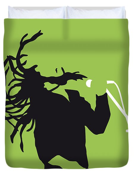 No016 My Bob Marley Minimal Music Poster Duvet Cover by Chungkong Art