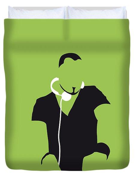 No026 My Afrojack Minimal Music Poster Duvet Cover by Chungkong Art