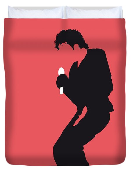 No032 My Michael Jackson Minimal Music Poster Duvet Cover by Chungkong Art