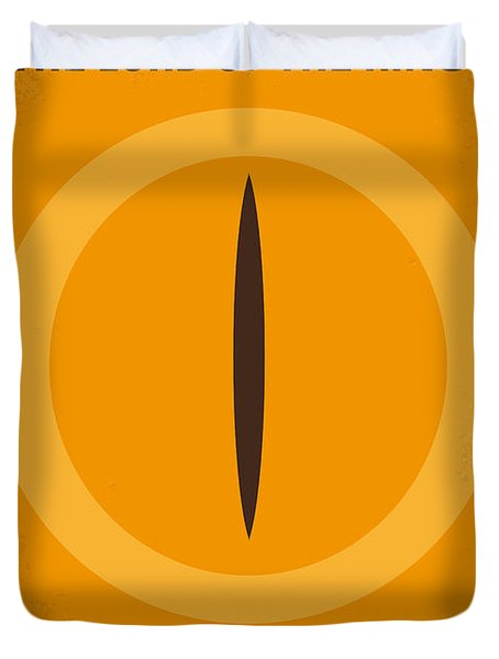 No039 My Lord of the Rings minimal movie poster Duvet Cover by Chungkong Art