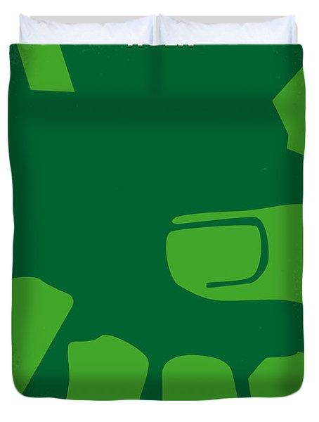 No040 My Hulk Minimal Movie Poster Duvet Cover by Chungkong Art