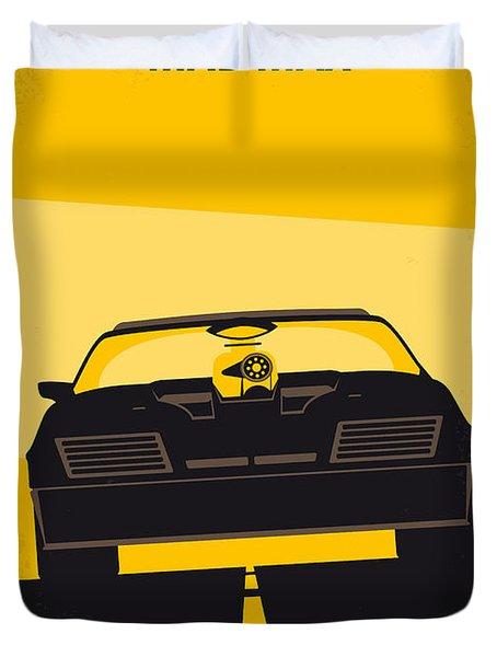 No051 My Mad Max Minimal Movie Poster Duvet Cover by Chungkong Art