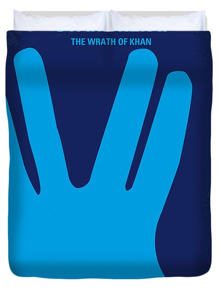 No082 My Star Trek 2 Minimal Movie Poster Duvet Cover by Chungkong Art