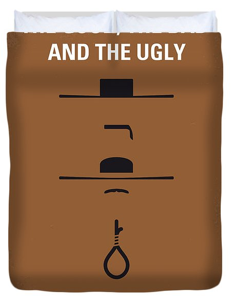 No090 My The Good The Bad The Ugly Minimal Movie Poster Duvet Cover by Chungkong Art