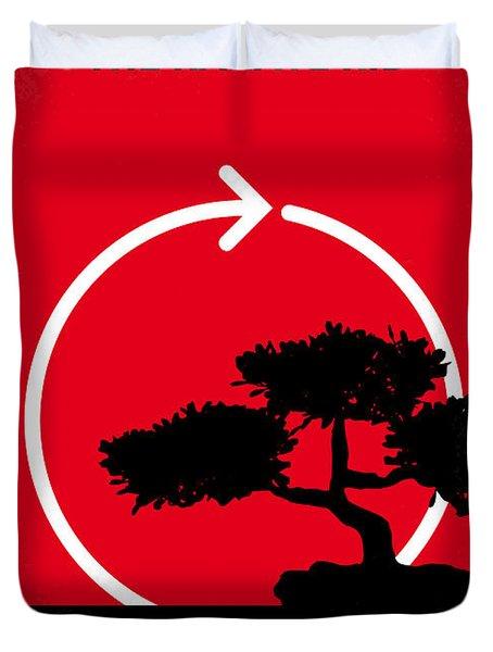 No125 My Karate Kid Minimal Movie Poster Duvet Cover by Chungkong Art