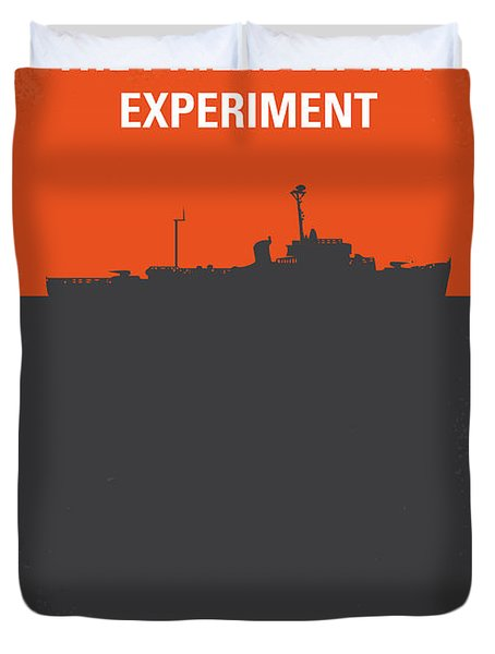 No126 My The Philadelphia Experiment Minimal Movie Poster Duvet Cover by Chungkong Art