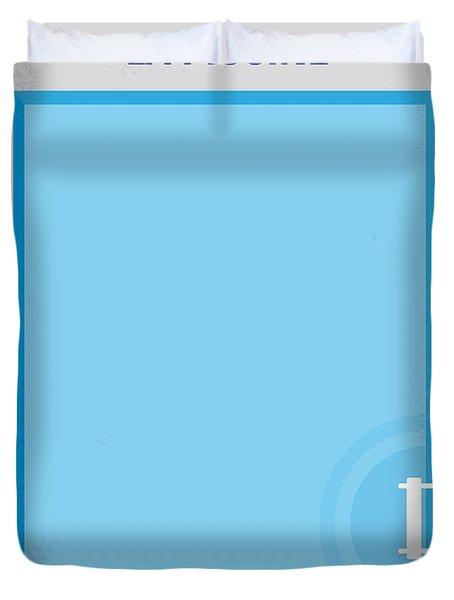 No137 My La Piscine Minimal Movie Poster Duvet Cover by Chungkong Art