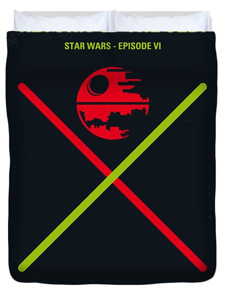 No156 My STAR WARS Episode VI Return of the Jedi minimal movie poster Duvet Cover by Chungkong Art