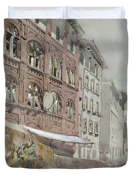 No.1590 Palazzo Agostini, Pisa, 1845 Duvet Cover by John Ruskin
