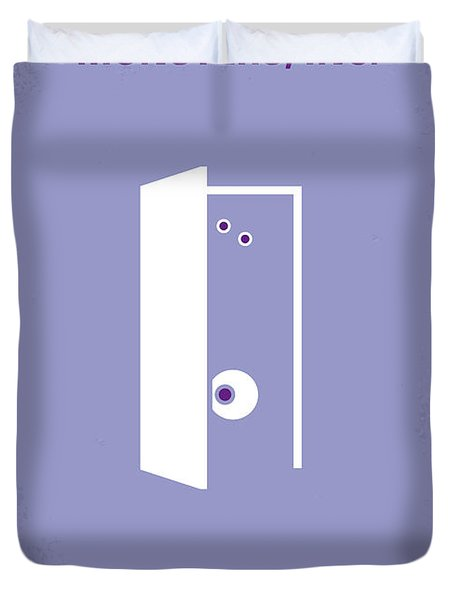 No161 My Monster Inc minimal movie poster Duvet Cover by Chungkong Art