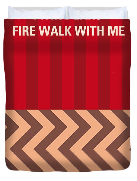 No169 My Fire Walk With Me Minimal Movie Poster Duvet Cover by Chungkong Art