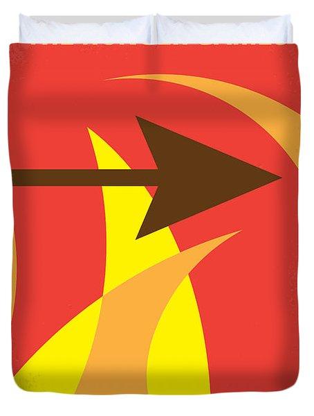 No175 My Hunger Games Minimal Movie Poster Duvet Cover by Chungkong Art