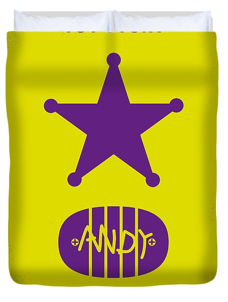 No190 My Toy Story minimal movie poster Duvet Cover by Chungkong Art