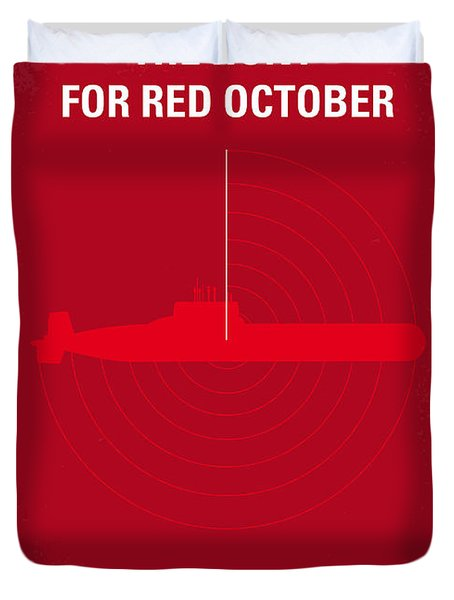 No198 My The Hunt For Red October Minimal Movie Poster Duvet Cover by Chungkong Art