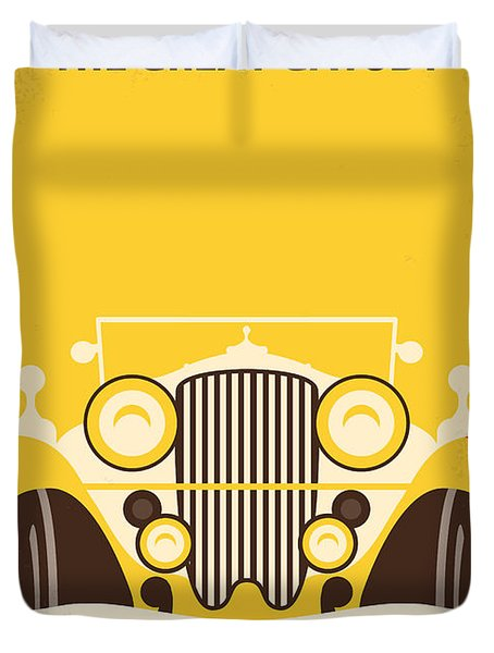 No206 My The Great Gatsby minimal movie poster Duvet Cover by Chungkong Art
