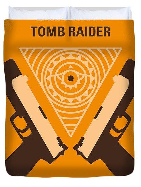 No209 Lara Croft Tomb Raider minimal movie poster Duvet Cover by Chungkong Art