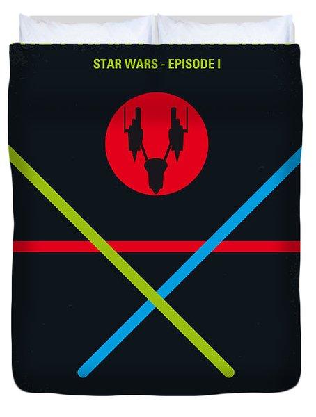 No223 My Star Wars Episode I The Phantom Menace Minimal Movie Poster Duvet Cover by Chungkong Art