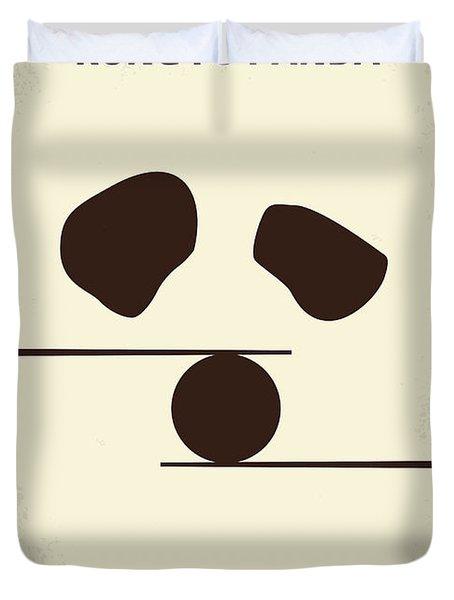 No227 My Kung Fu Panda Minimal Movie Poster Duvet Cover by Chungkong Art