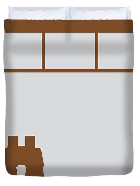No238 My Rear window minimal movie poster Duvet Cover by Chungkong Art