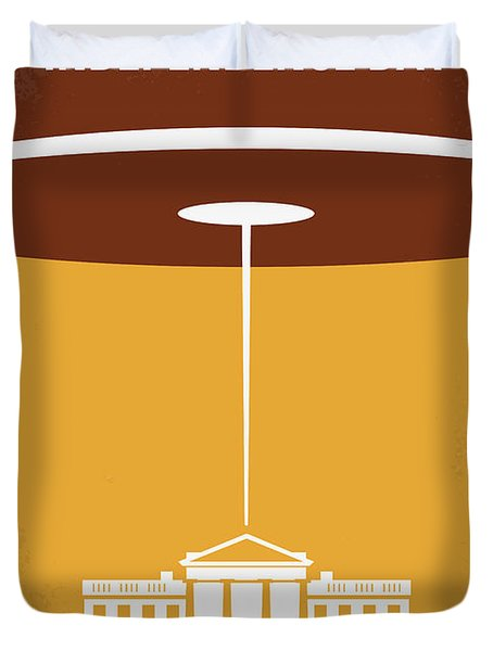 No249 My INDEPENDENCE DAY minimal movie poster Duvet Cover by Chungkong Art