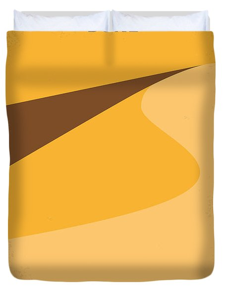 No251 My Dune Minimal Movie Poster Duvet Cover by Chungkong Art