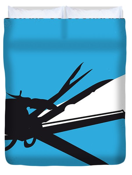 No260 My Scissorhands Minimal Movie Poster Duvet Cover by Chungkong Art