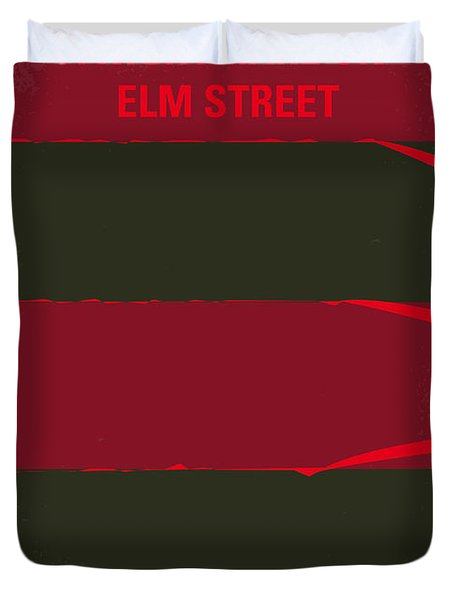 No265 My Nightmare On Elmstreet Minimal Movie Poster Duvet Cover by Chungkong Art