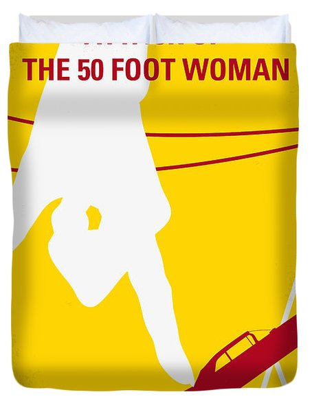 No276 My Attack Of The 50 Foot Woman Minimal Movie Poster Duvet Cover by Chungkong Art