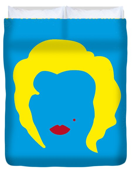 No284 My Week With Marilyn Minimal Movie Poster Duvet Cover by Chungkong Art