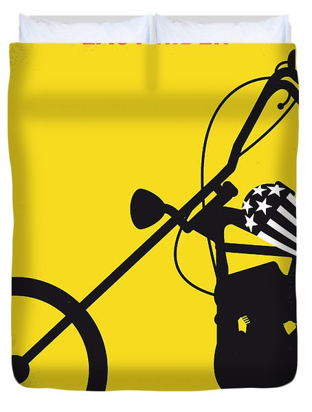 No333 My Easy Rider Minimal Movie Poster Duvet Cover by Chungkong Art